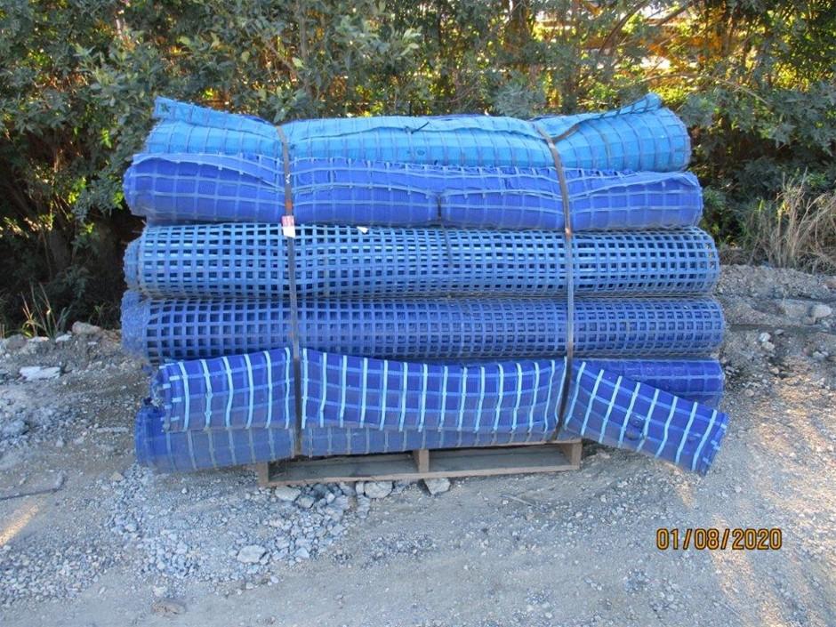 Approx 30 Rolls Fence Barrier - Blue