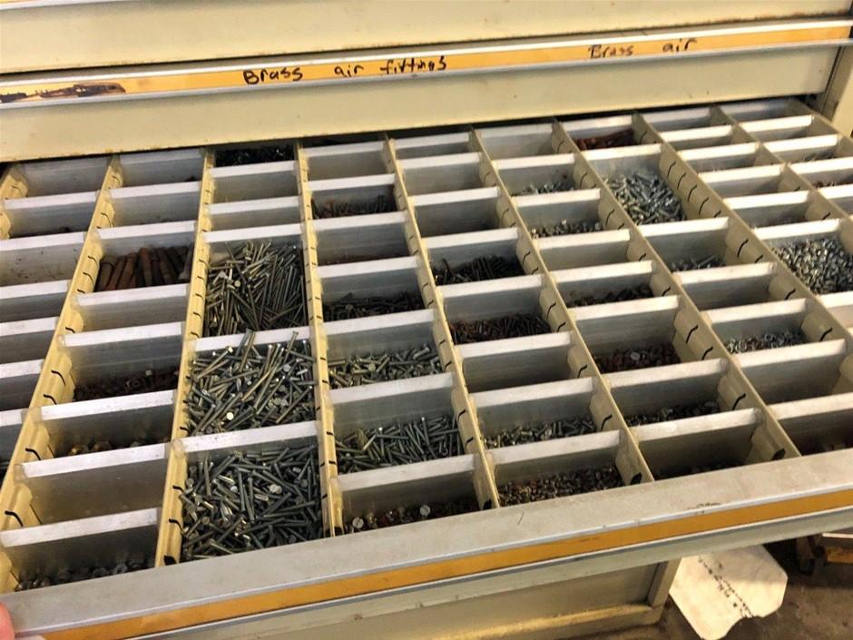 14 Drawer Storage Unit & Contents