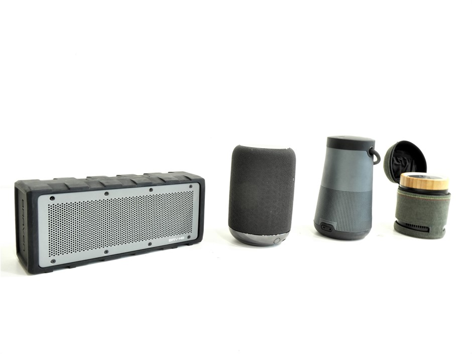 4x ASSORTED USED & UNTESTED WIRELESS PORTABLE SPEAKERS