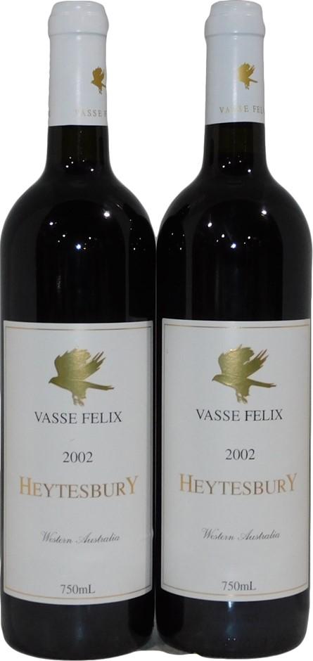Vasse Felix Heytesbury Cabernet Blend 2002 (2x 750mL), WA. Cork