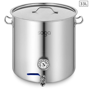 SOGA Stainless Steel 33L Brewery Pot Wit