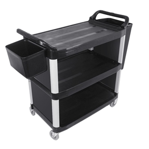 SOGA 3 Tier Covered Food Trolley Food Wa