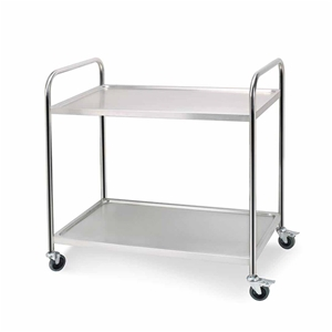 SOGA 2 Tier S/S Kitchen Dining Food Cart