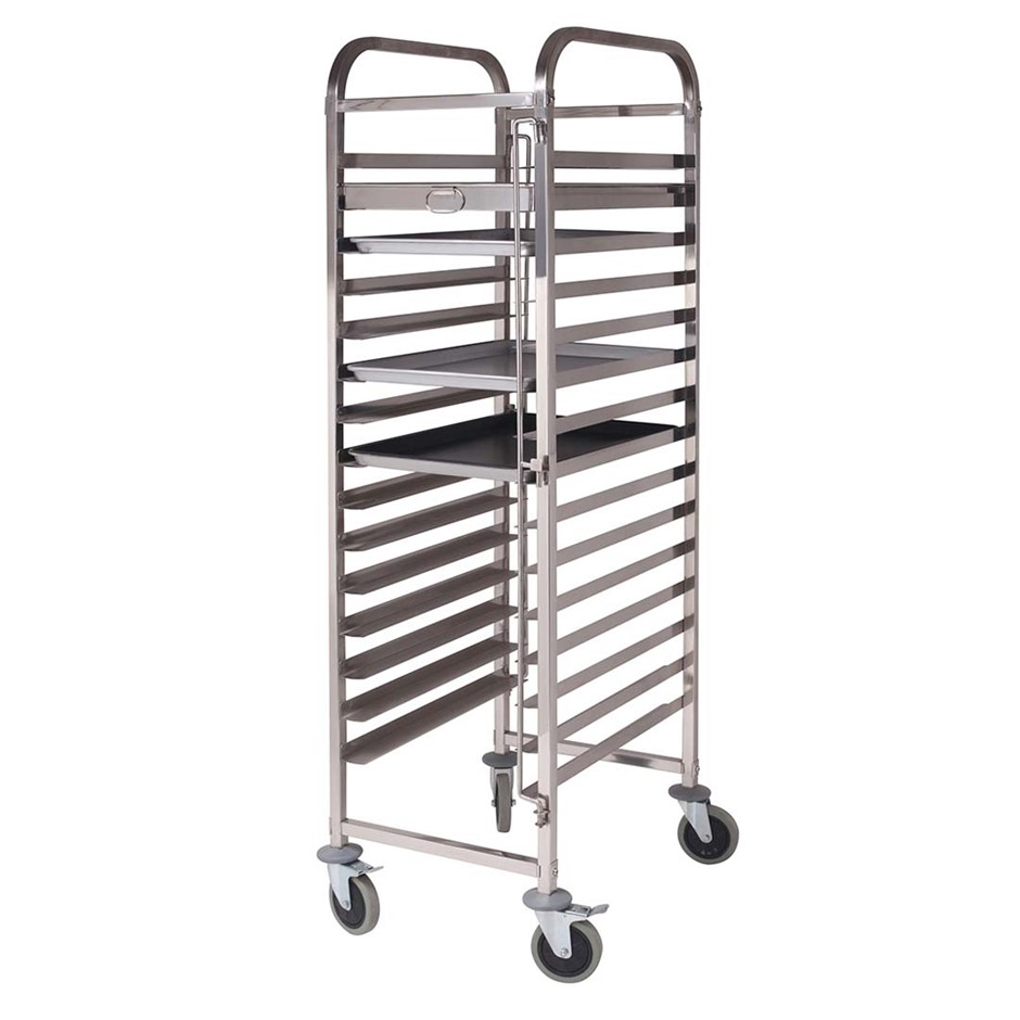 SOGA Gastronorm Trolley 15 Tier S/S Cake Bakery Trolley Suits 60*40cm Tray