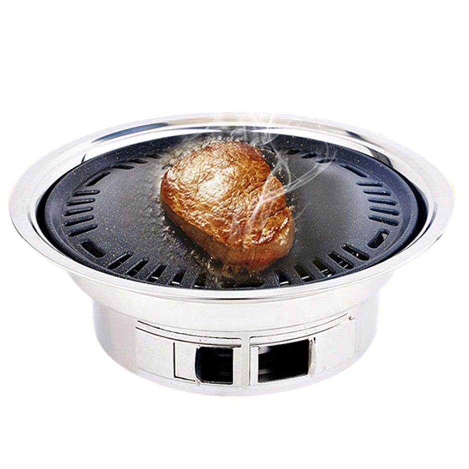 BBQ Grill S/Steel Portable Smokeless Charcoal Grill Home Outdoor Camping