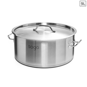 SOGA Stock Pot 9Lt Top Grade Thick Stain