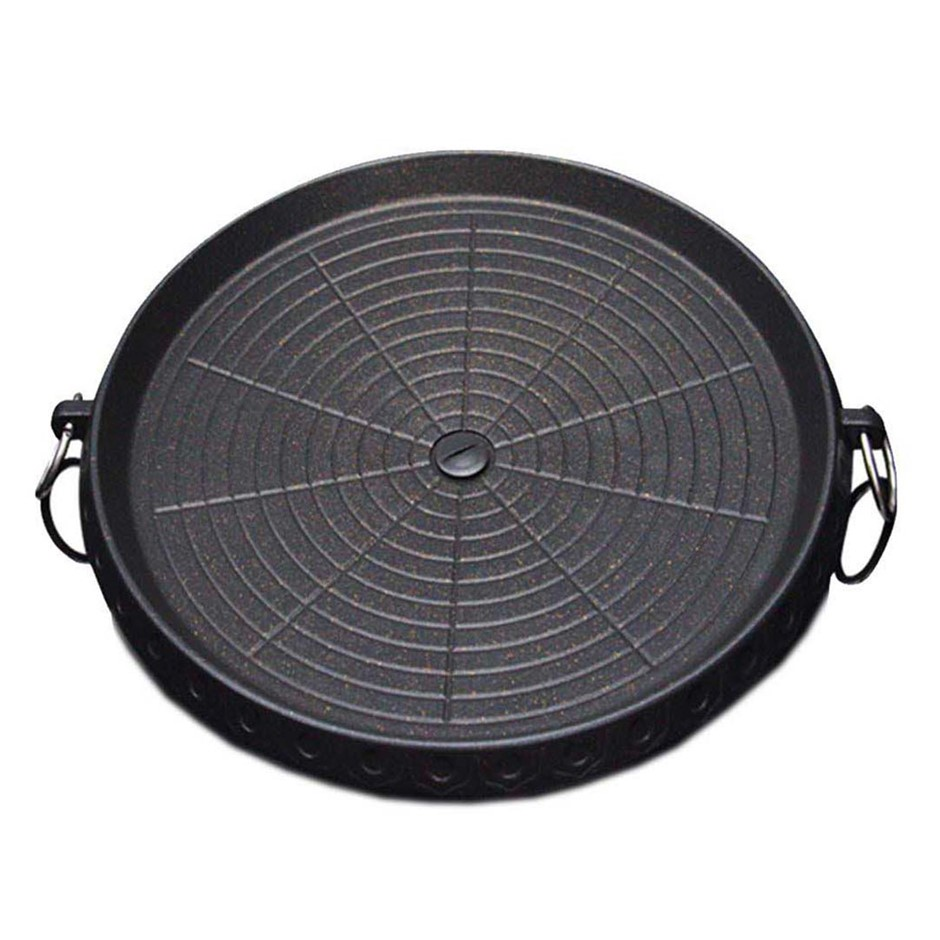 Portable Korean BBQ Butane Gas Stove Stone Grill Plate Non Stick Coated Rnd