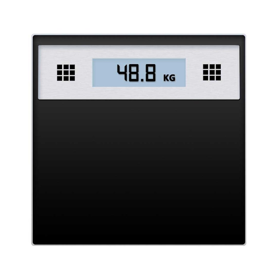 SOGA 180kg Elec. Talkng Scale Wght F'nss Glass Bathroom Scale LCD Disp. S/S