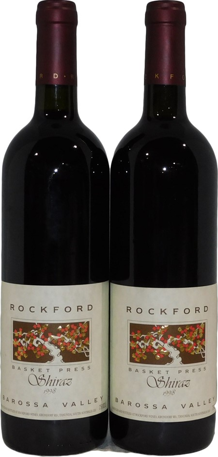 Rockford Basket Press Shiraz 1998 (2x 750mL), Barossa. Cork