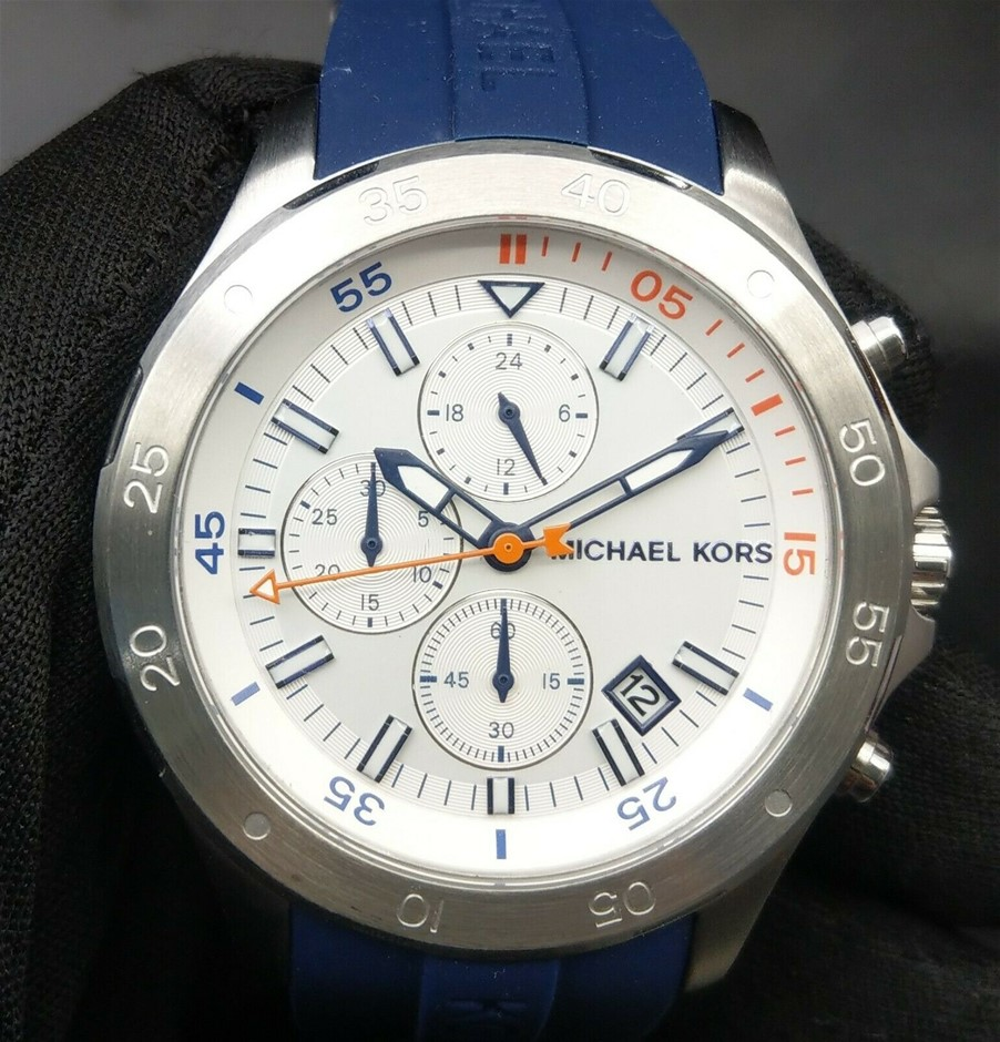 Men's new Michael Kors Couture NY very masculine/sporty chronograph watch.