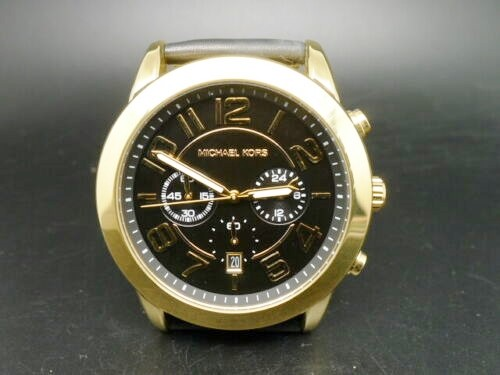 Men's new Michael Kors Couture NY very masculine, sporty chronograph watch.