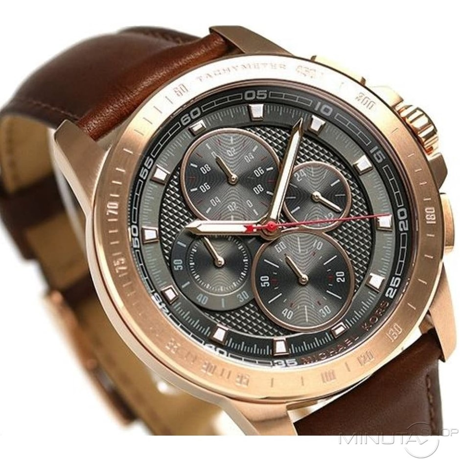 Men's new Michael Kors Couture NY very masculine chronograph watch.