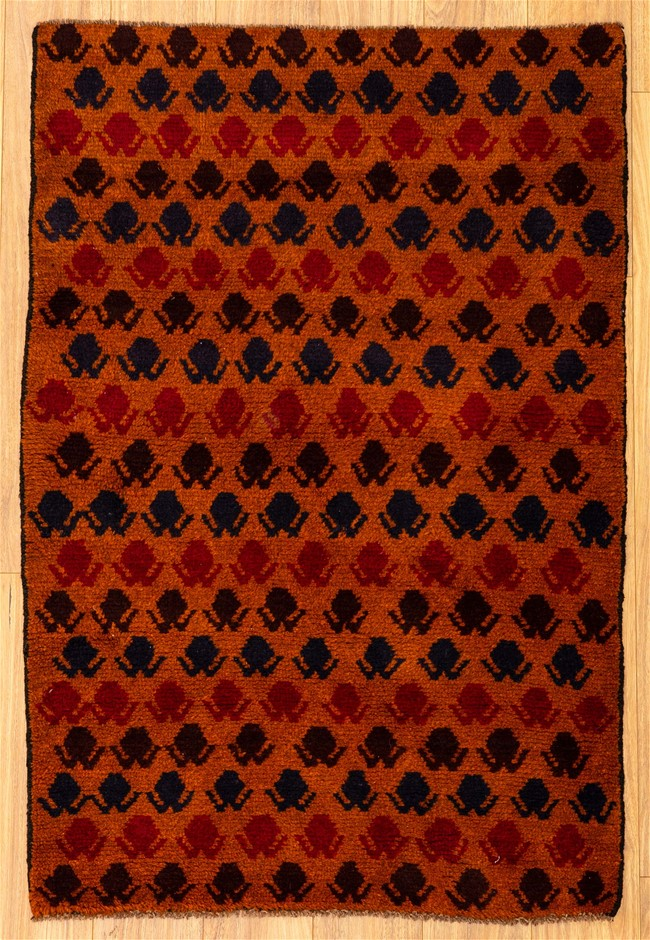 Handknotted Pure Wool Persian Baluchi Rug - Size 137cm x 94cm