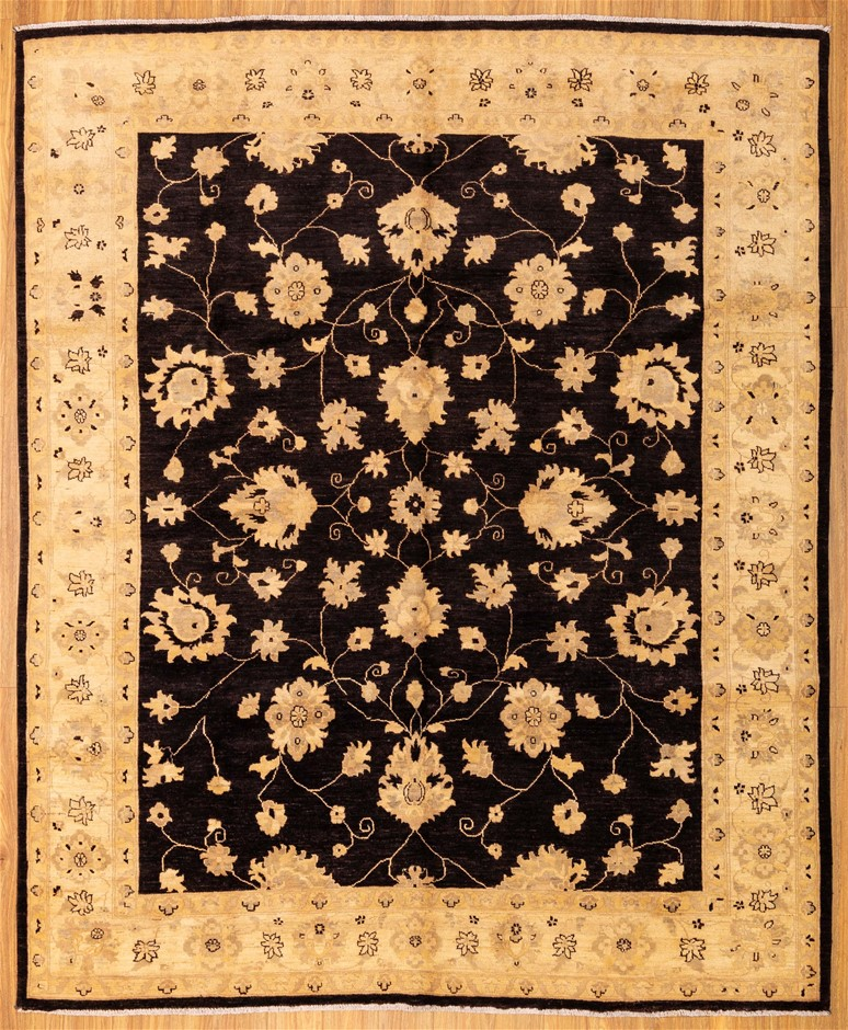 Handknotted Pure Wool Fine Afghan Chobi Rug - Size 298cm x 244cm