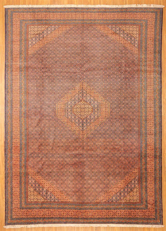 Hadnknotted Pure Wool Fine Antique Persian Tabriz - Size 407cm x 300cm