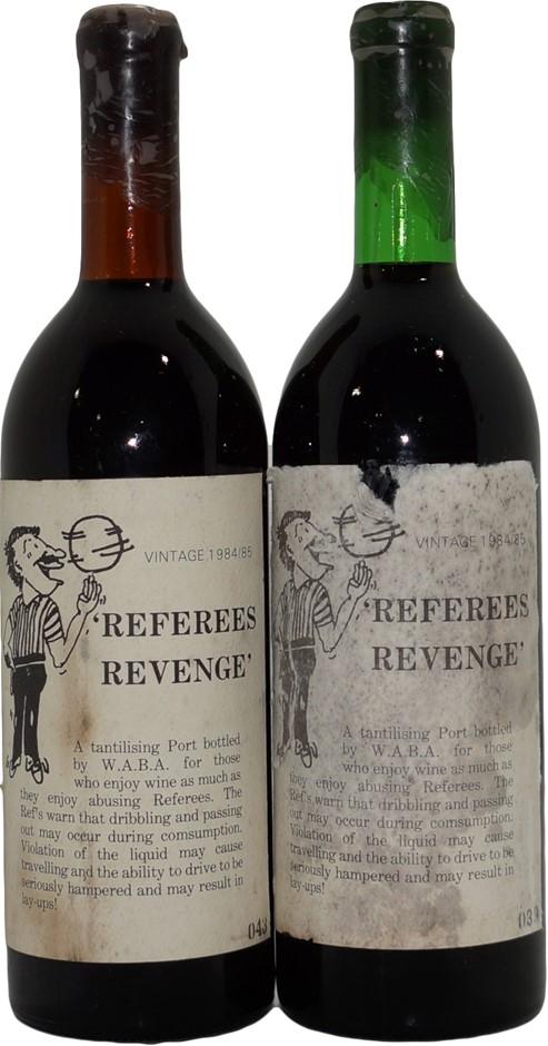 Referees Revenge Vintage Port 1984/1985 (2x 750mL), SA. Cork.