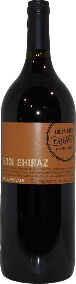 Oliver's Taranga McLaren Vale Shiraz 2001 (1x 1.5L Magnum), SA. Cork