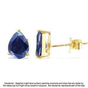 9ct Yellow Gold, 2.50ct Blue Sapphire Ea