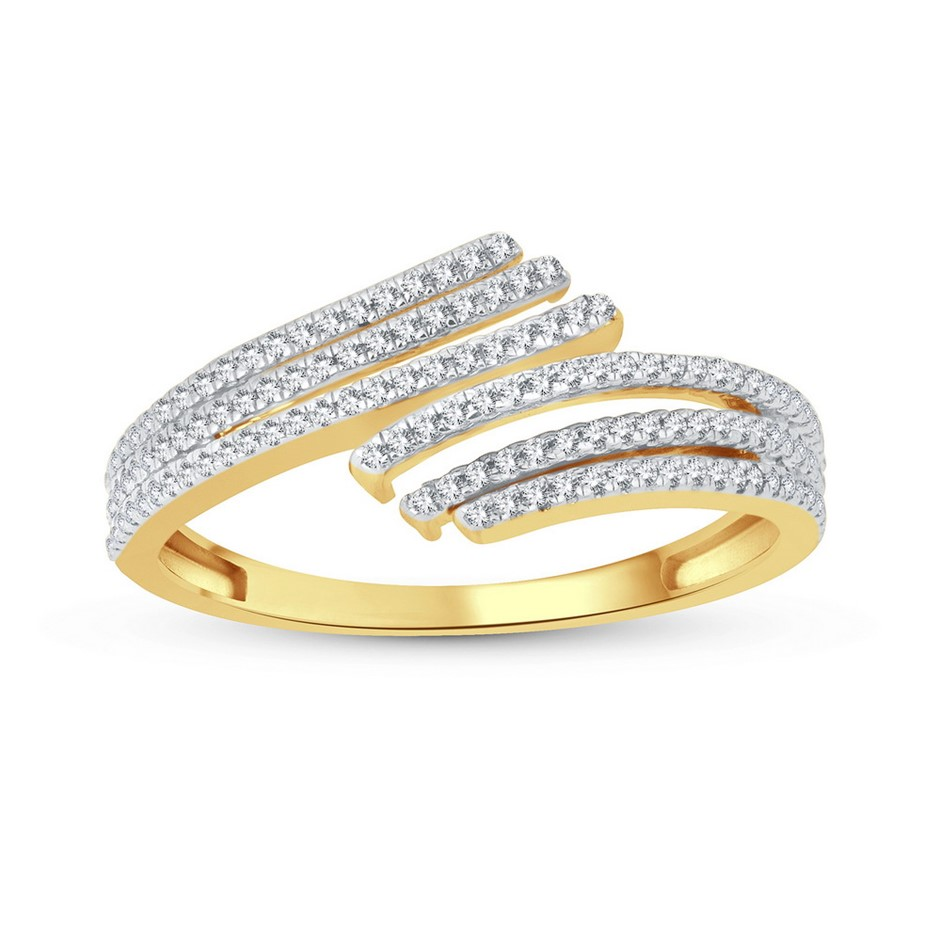 9ct Yellow Gold, 0.18ct Diamond Ring