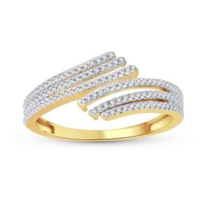 9ct Yellow Gold, 0.18ct Diamond Ring