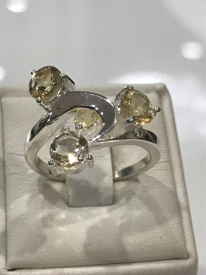 Magnificent Citrine Multi Stone Ring Size L or 6