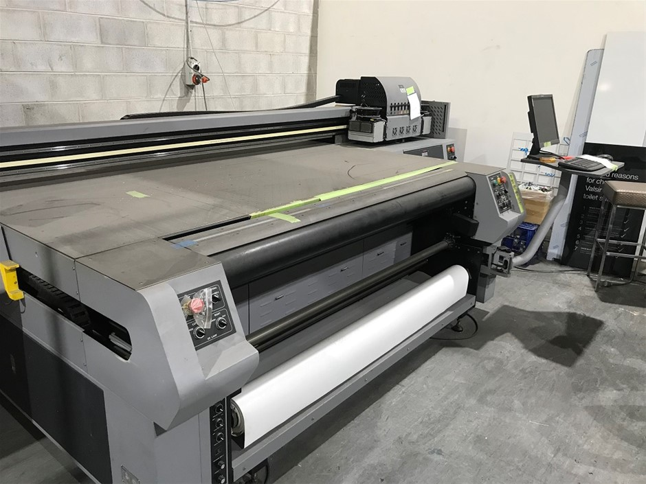 Digital Flatbed Printer with UV Cure Teckwin Model TS300 Flat Bed