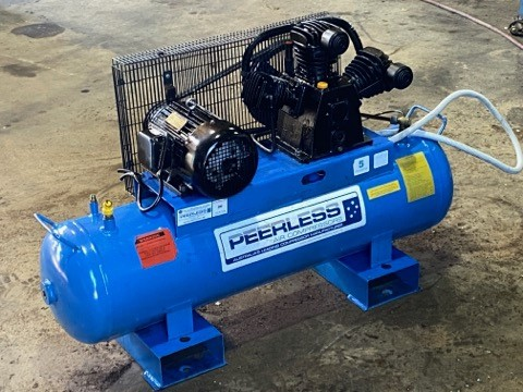 Peerless Model PHP15 skid mounted air compressor