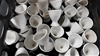 Qty 40x WHITE CHINA EGG CUPS - NEW (273834-141)