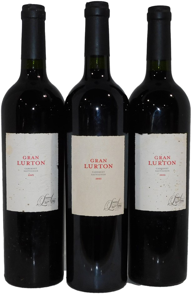 Francois Lurton Gran Reserva Cabernet Sauvignon 2003 (3x 750mL) Argentina