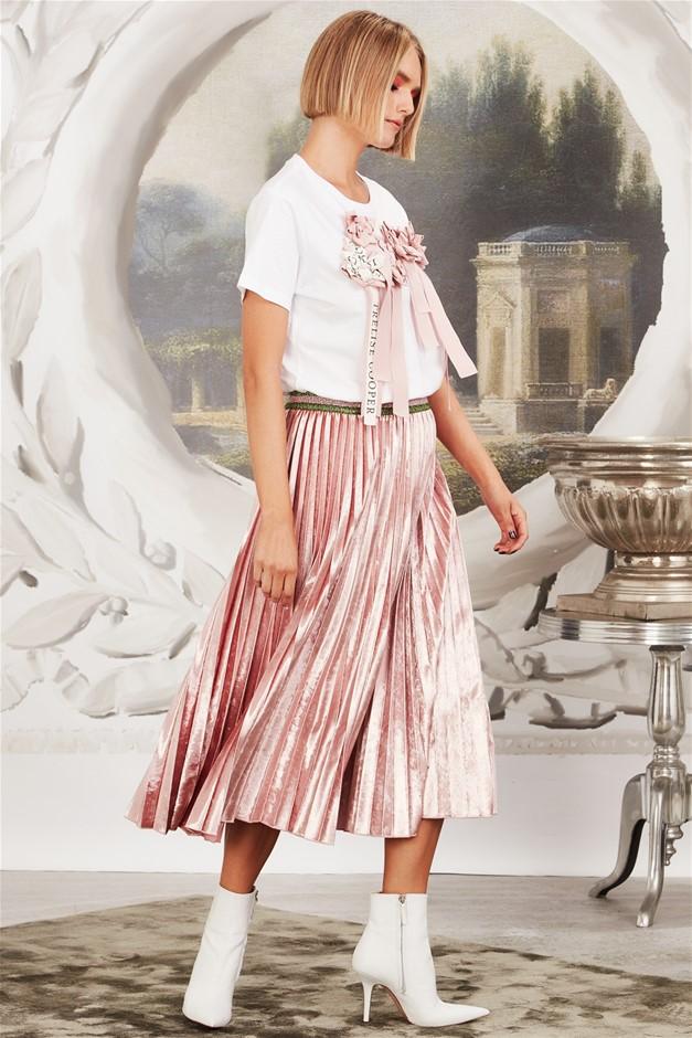 TRELISE COOPER Com-Pleat Package Skirt. Size L, Colour: Blush. ORP: $449 Bu