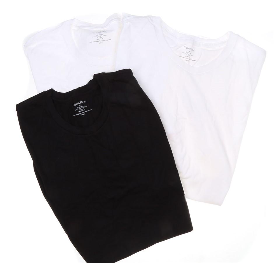 3 x CALVIN KLEIN Men`s Classic Fit Crew Neck T- Shirts, Size M, 100% Cotton