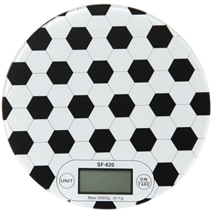 Slimline Kitchen Scales with soccer ball
