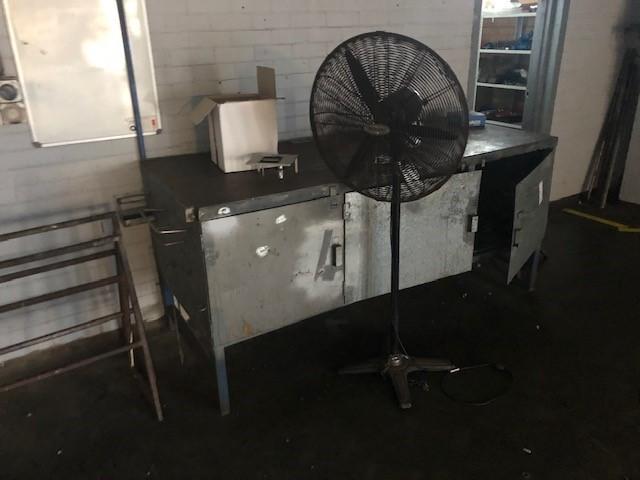 3 Door Workshop Bench Steel