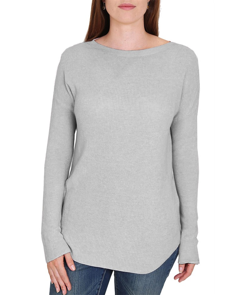 WITE Rose Knit. Size L, Colour: Grey Marle. Buyers Note - Discount Freight