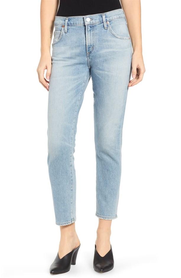 CITIZENS OF HUMANITY Elsa Mid Rise Slim Fit Crop Jean, Size 24, Colour: Ren