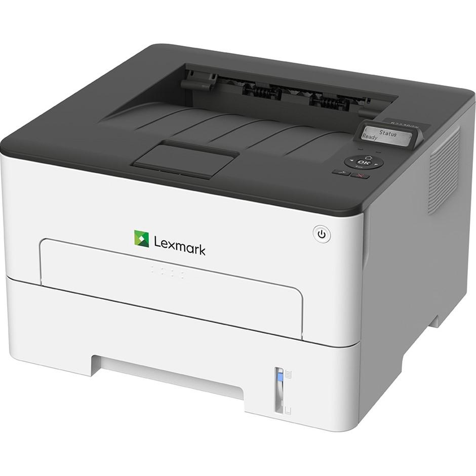 LEXMARK B2236DW Mono Laser Printer. N.B. Has been used. Rear door broken. P