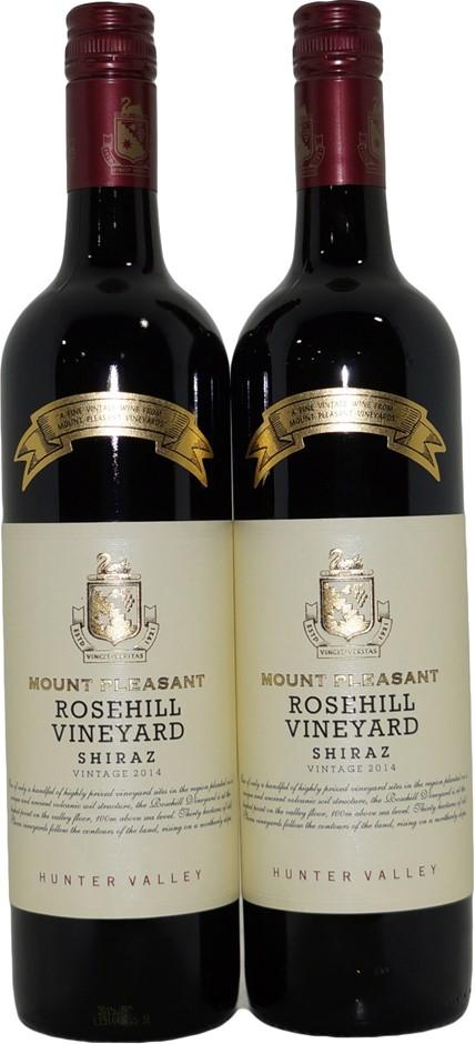 Mount Pleasant Rosehill Vineyard Shiraz 2014 (2x 750mL), NSW, Screwcap.