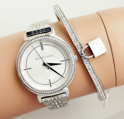 Michael Kors ladies sophisticated yet glamorous diamante MOP watch,