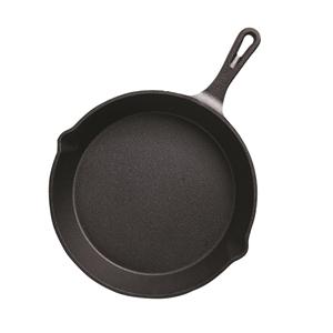 SOGA 26cm Round Cast Iron Frying Pan Ski