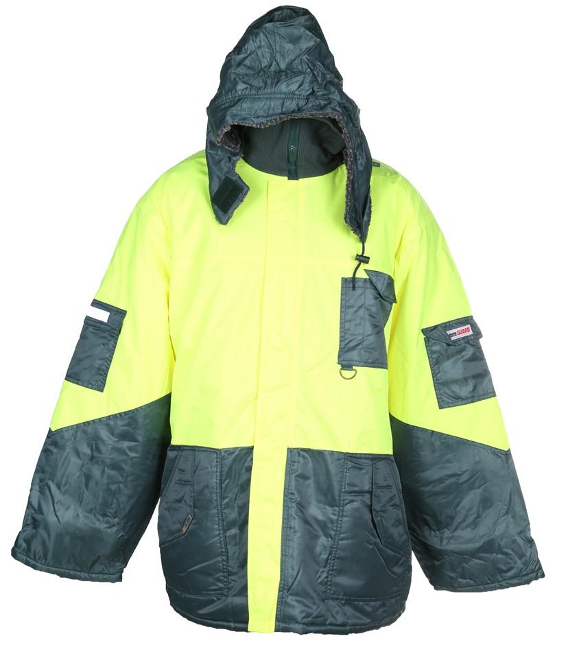 FRONTIER Freezer Jacket, Velcro/Zip Front Closure, Size 2XL, Concealed Hood