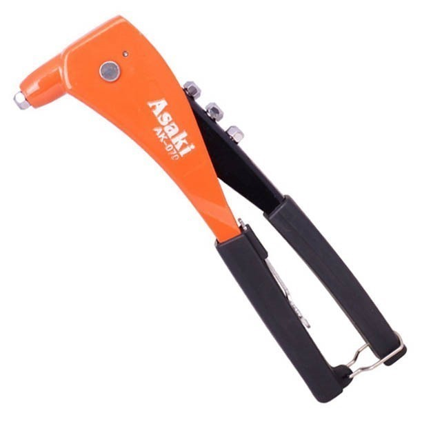 ASAKI Hand Riveter 10.5ins with 4 Tips. Workable Scope: 3/32ins - 2.4mm, 1/