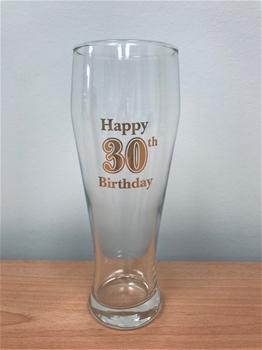 Happy 30th Birthday Beer Glass