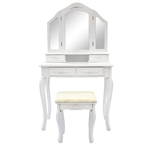 3 Mirrors 4 Drawers Dressing Table - DIA