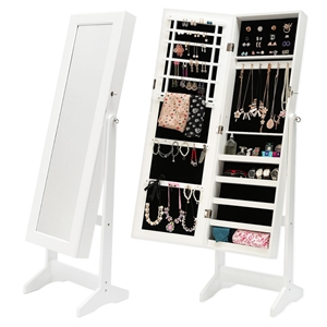 146cm Mirror Jewellery Cabinet LUVO - WH