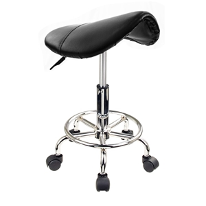 Saddle Salon Stool - BLACK
