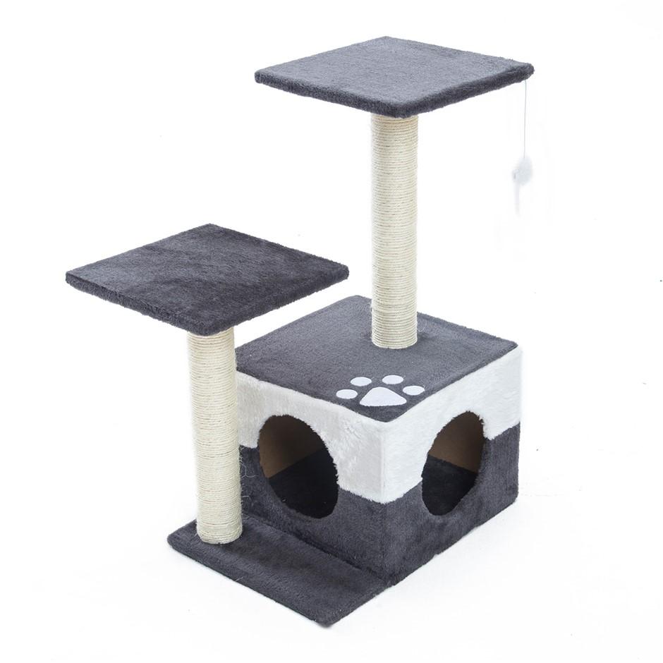 69cm Cat Tree Scratcher MONO - GREY