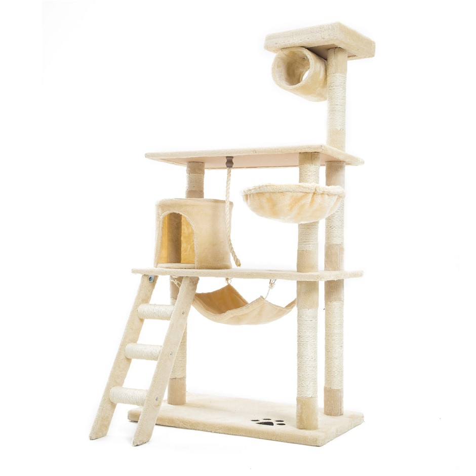 140cm Cat Tree Scratcher MAPLE - BEIGE