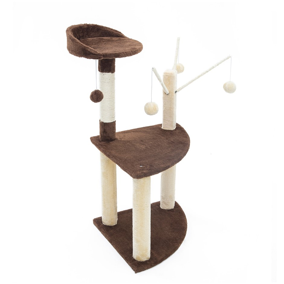 96cm Cat Tree Scratcher LUNA - BROWN