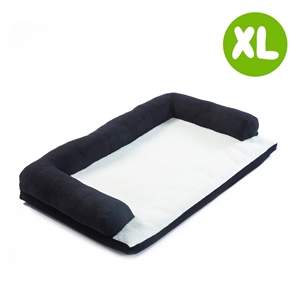 XL 90 x 60 x 15cm Pet Couch TUFTY - BLAC