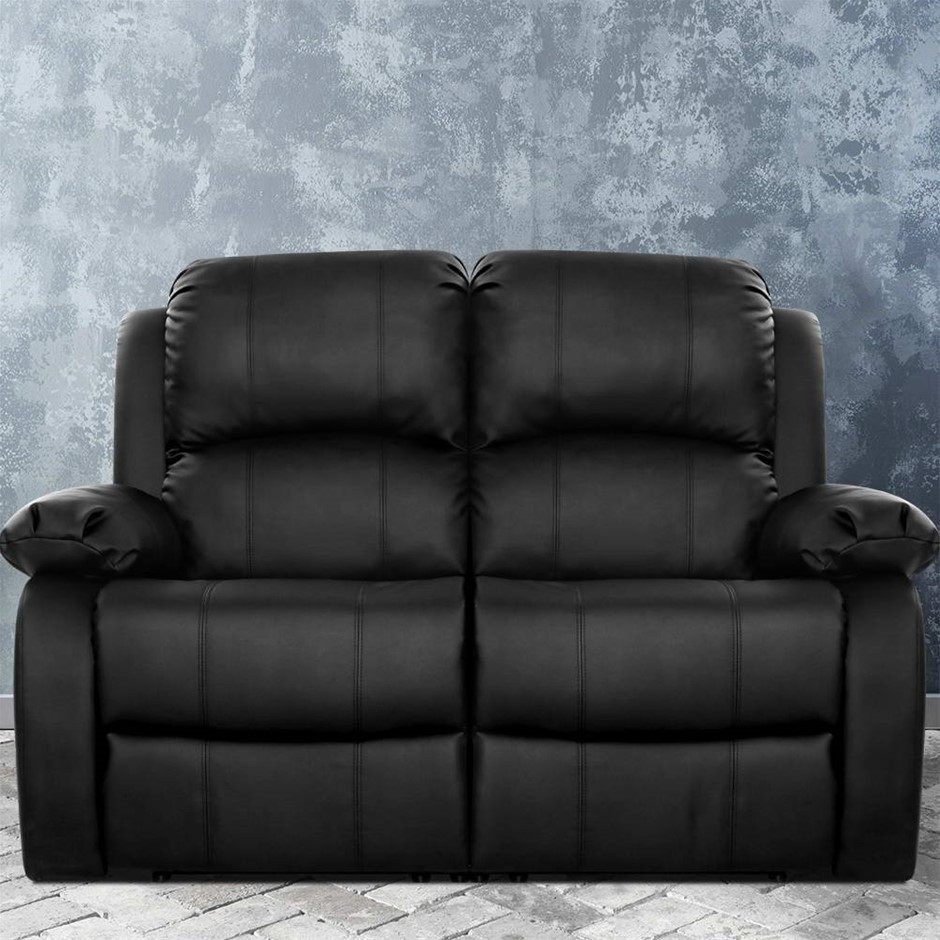 Artiss Recliner Chair 2-Seater Premium Leather Double Lounge Sofa Couch